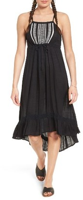 Women's Rip Curl Embroidered Midi Dress $64 thestylecure.com
