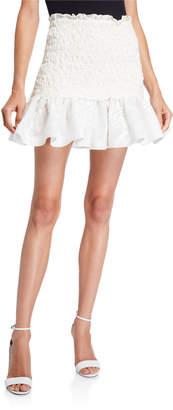 Alexis Lotus Cloque Flounce Skirt