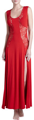 La Perla El Color Rojo Long Gown, Ruby