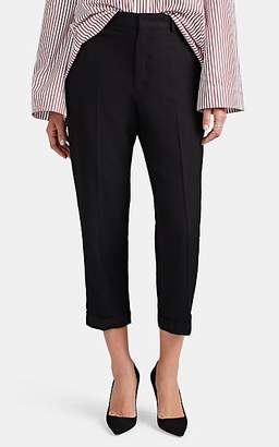 Yohji Yamamoto Regulation Women's Wool-Blend Tapered Trousers - Black