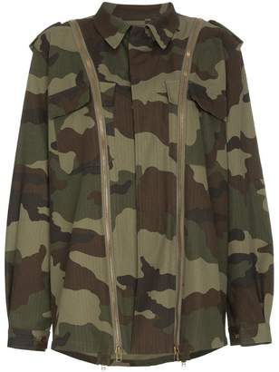 Faith Connexion Camouflage jacket with zip detail