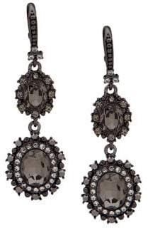 Marchesa Jet & Crystal Double Drop Earrings