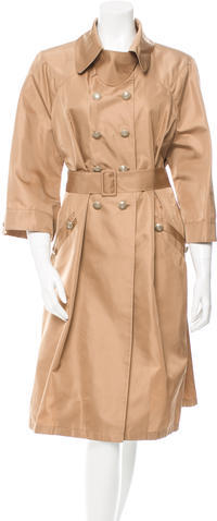 ValentinoValentino Silk Double-Breasted Coat w/ Tags