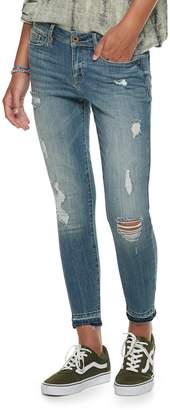 American Rag Juniors' Mid-Rise Destructed Ankle Skinny Jeans