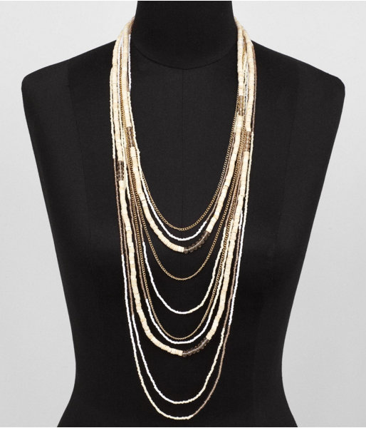 Express Multi-Row Seed Bead Necklace
