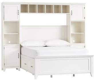 Pottery Barn Teen Hampton Storage Bed Super Set, Full, Simply White