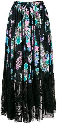 Blugirl floral print full skirt