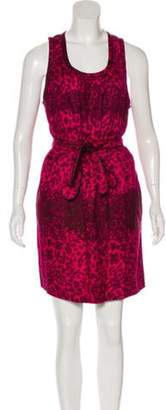 Marc by Marc Jacobs Silk Printed Dress w/ Tags Magenta Silk Printed Dress w/ Tags