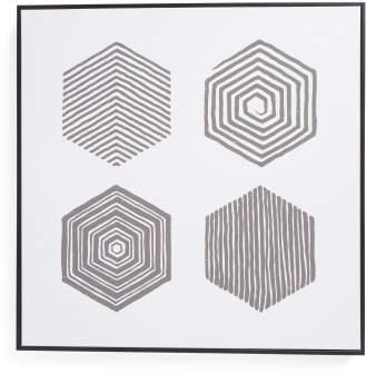24x24 Hexagons Canvas Wall Art