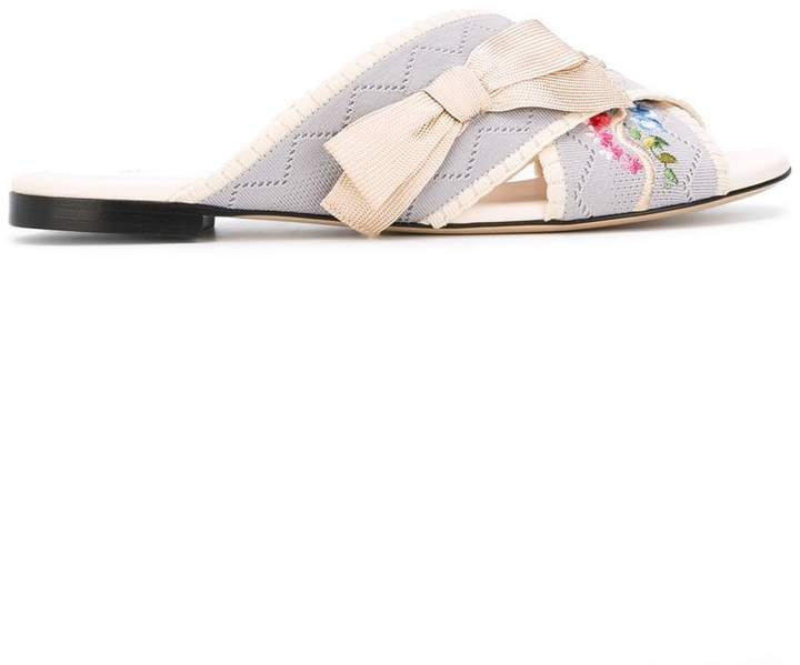 Fendi flat sandals with embroideries