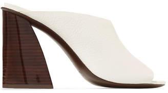 Mercedes Benz Castillo - Izar Textured-leather Mules - White