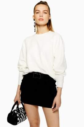 Topshop Furry Sweatshirt