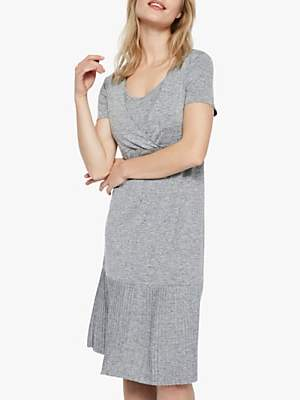 5a0f33bfcc84a Mama Licious Mamalicious Kada Tess Jersey Nursing Dress, Grey Melange