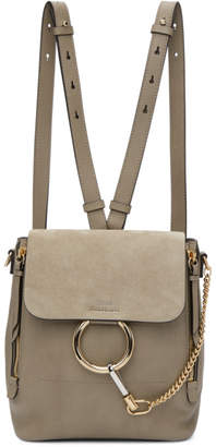 Chloé Grey Small Faye Backpack