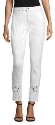 Elie Tahari Azella Embroidered Jeans