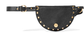 See by Chloe Kriss Mini Eyelet-embellished Convertible Leather Belt Bag - Black