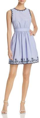 Kate Spade Daisy Embroidered Chambray Dress
