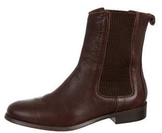 Burberry Leather Round-Toe Ankle Boots