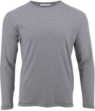 The White T-Shirt Co - Navy Stripe Long Sleeve T-Shirt