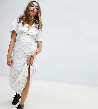 Sacred Hawk Maxi Shirt Dress In Floral