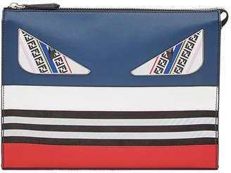 Fendi zipped panelled clutch bag