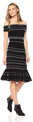 Adelyn Rae Women's Karissa Knit Off Shoulder Sweater Dress