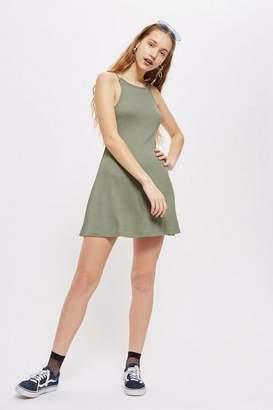 Topshop Scoop Back Swing Mini Dress