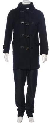 Louis Vuitton Fur-Trimmed Wool Duffel Coat
