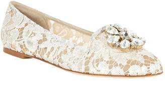Dolce & Gabbana Lace Vally Embellished Flats
