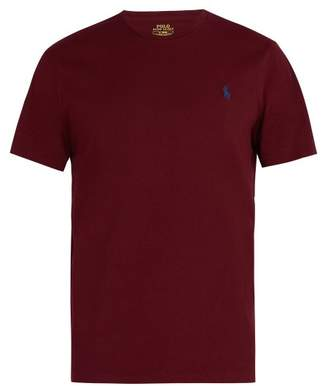 Polo Ralph Lauren - Logo Embroidered Cotton Jersey T Shirt - Mens - Burgundy