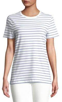 Lord & Taylor Petite Petite Striped Cotton-Blend Tee