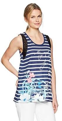 Desigual Women's Clementine Sleeveless Sailor Striped T-Shirt