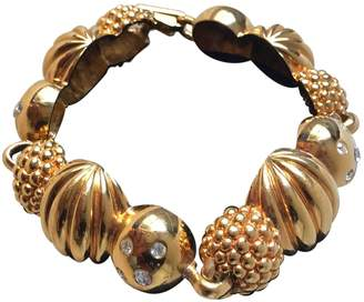 Lanvin Gold Metal Bracelet