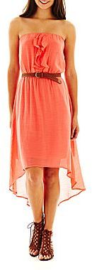 JCPenney by&by Strapless Maxi Dress