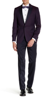 Ron Tomson Peak Collar Printed Tuxedo $750 thestylecure.com