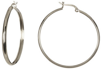 Argento Vivo Sterling Silver Polished Hoop Earrings $44 thestylecure.com