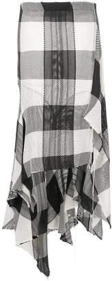 Marques Almeida Marques'almeida checked asymmetric skirt