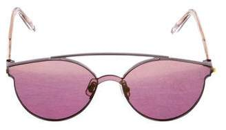 Gentle Monster Tilda Swinton x Titanium Mirrored Sunglasses