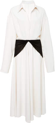 Victoria Beckham Twisted Yoke Midi Dress