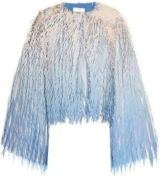 Marco De Vincenzo Laser-cut fringed georgette jacket