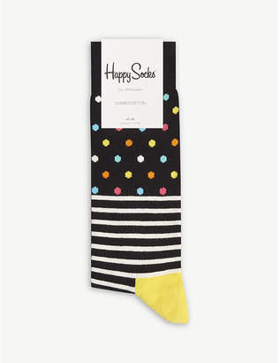 Happy Socks Spots and stripes cotton-blend socks