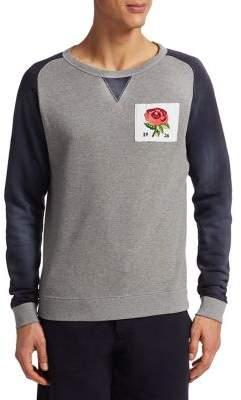 Kent & Curwen Floral Patch Cotton Sweatshirt