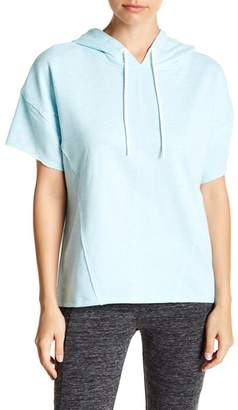 Andrew Marc Short Sleeve Hooded Pullover