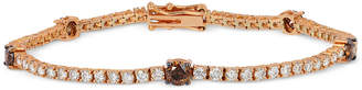 LeVian Le Vian Chocolatier White and Chocolate Diamond Bracelet (3-5/8 ct. t.w.) in 14k Rose or White Gold