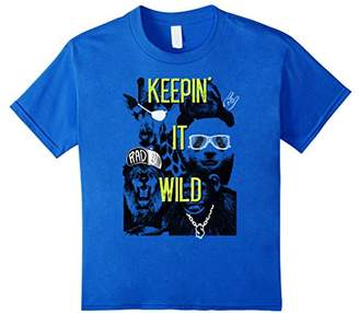 Keepin' It Wild Animal Gang Lion Sloth Panda Graphic T-Shirt