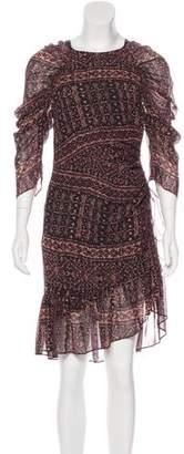 Ulla Johnson Long Sleeve Printed Dress
