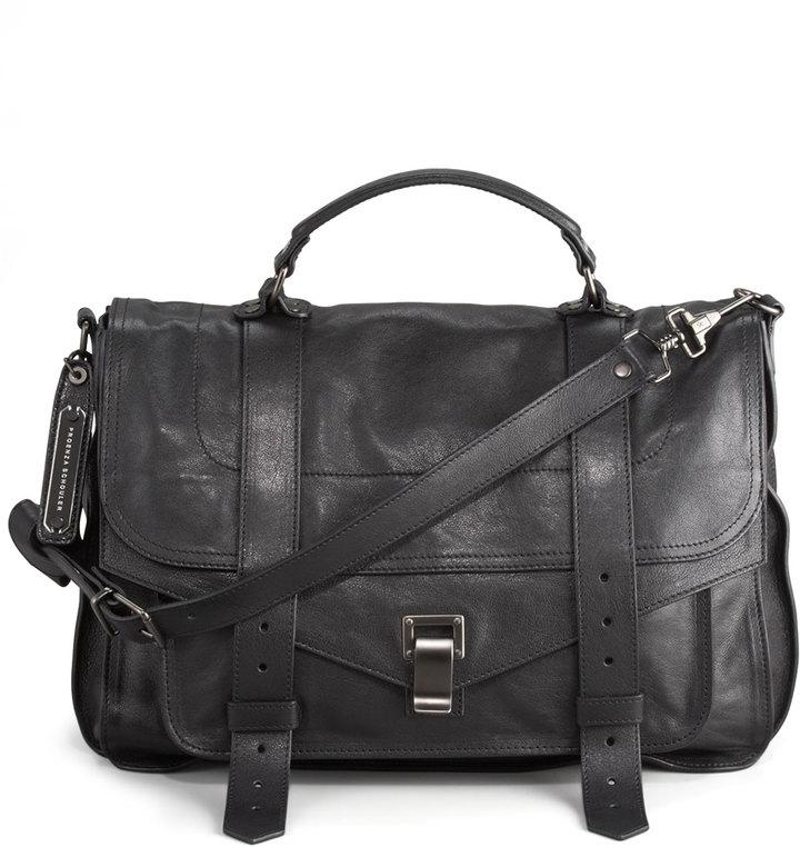 Proenza Schouler PS1 Large Satchel Bag, Black
