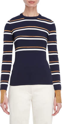 Cédric Charlier Lurex Striped Sweater