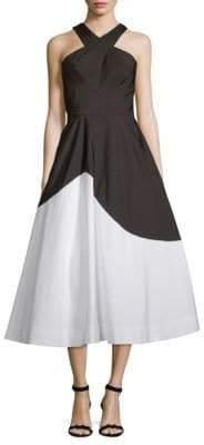 Carmen Marc Valvo Colorblock Cocktail Dress