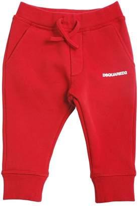 DSQUARED2 Logo Detail Cotton Sweatpants
